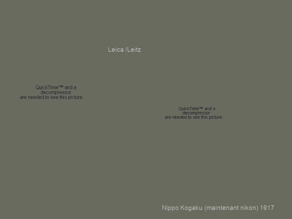 Nippo Kogaku (maintenant nikon) 1917 Leica /Leitz