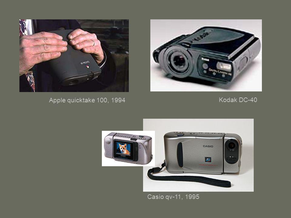 Apple quicktake 100, 1994 Kodak DC-40 Casio qv-11, 1995