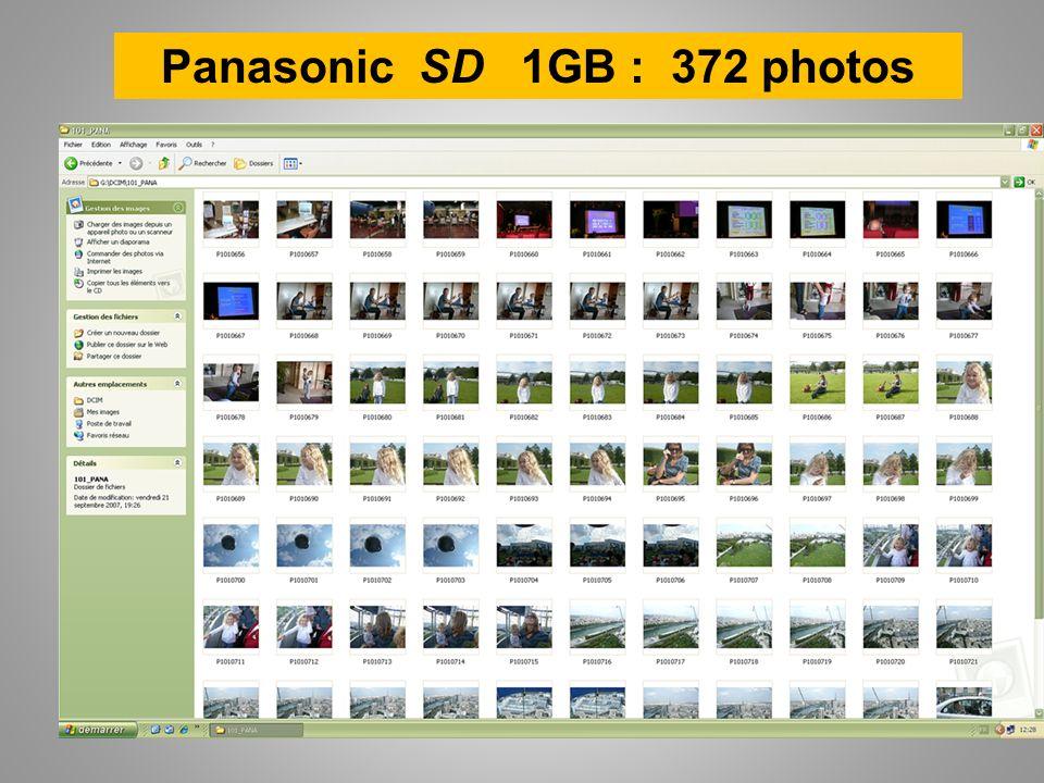 Panasonic SD 1GB : 372 photos