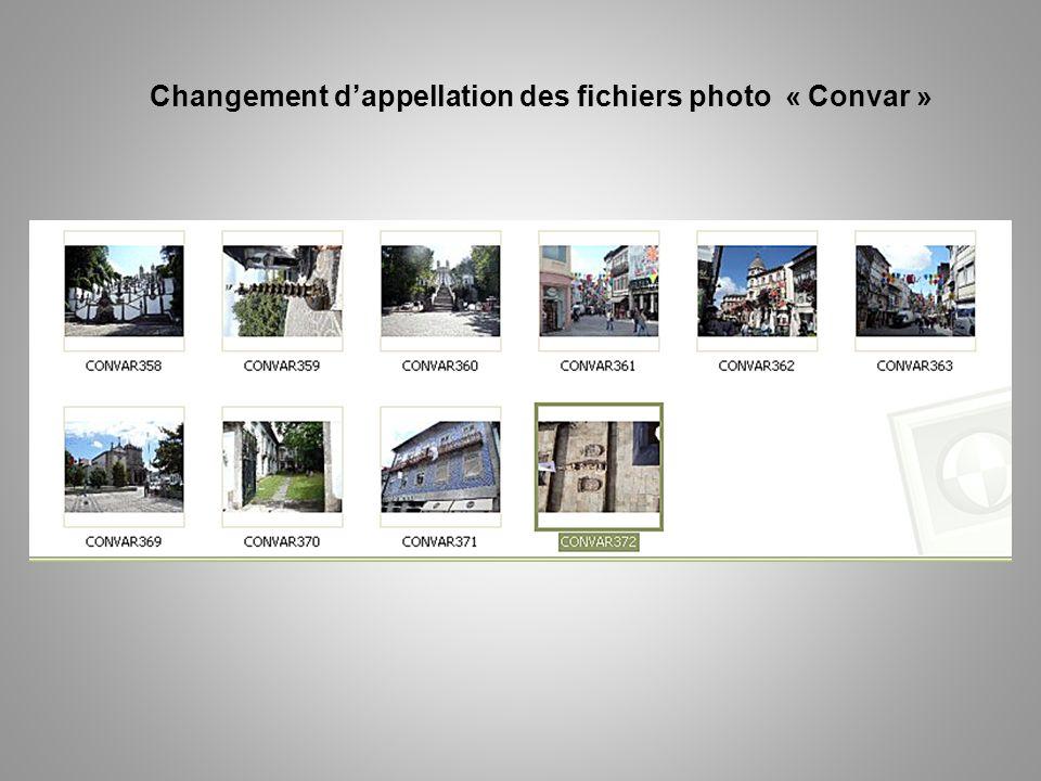 Changement dappellation des fichiers photo « Convar »