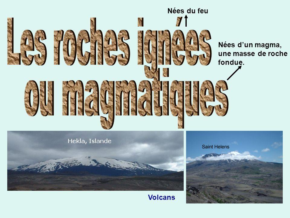 Nées du feu Nées dun magma, une masse de roche fondue. Volcans