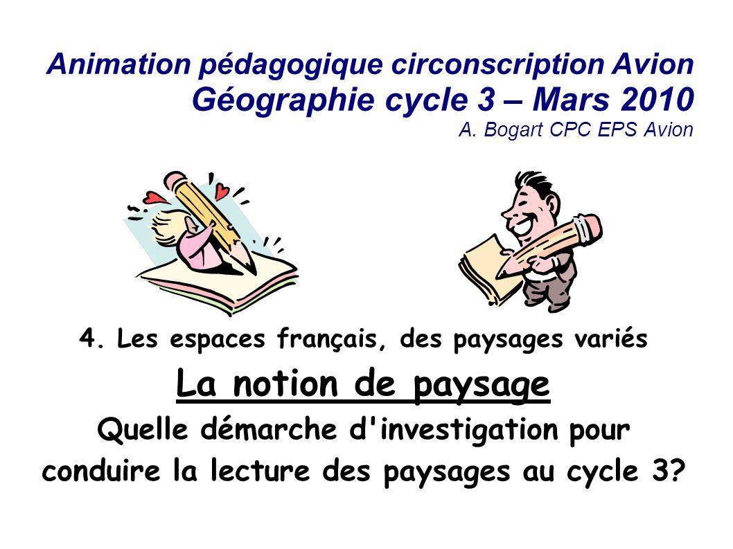 Animation pédagogique circonscription Avion Géographie cycle 3 – Mars 2010 A.
