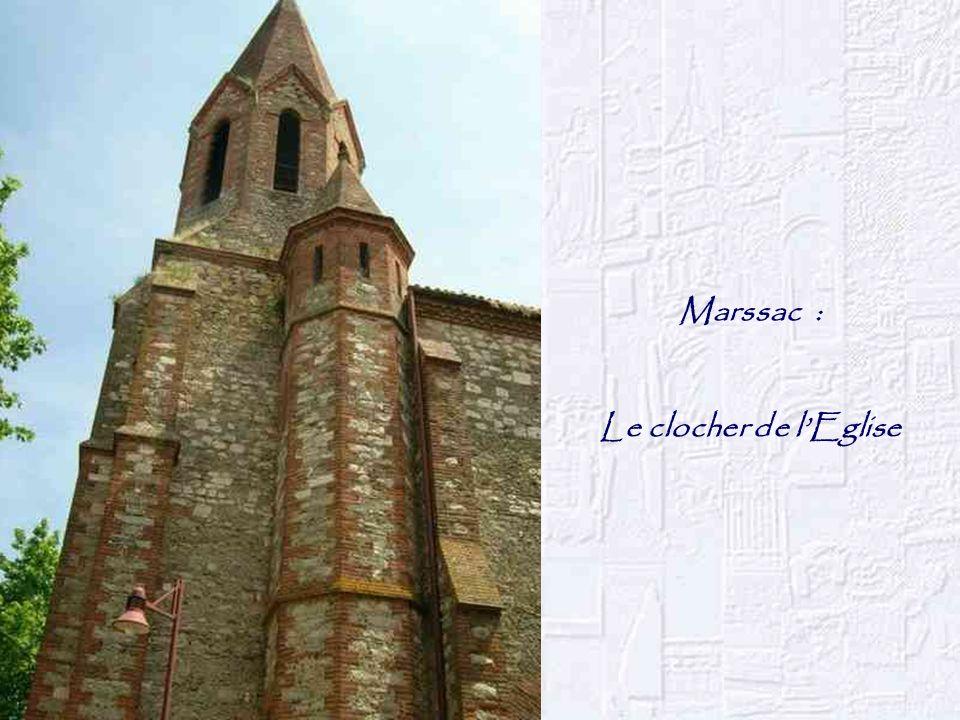 Marssac : Le clocher de lEglise