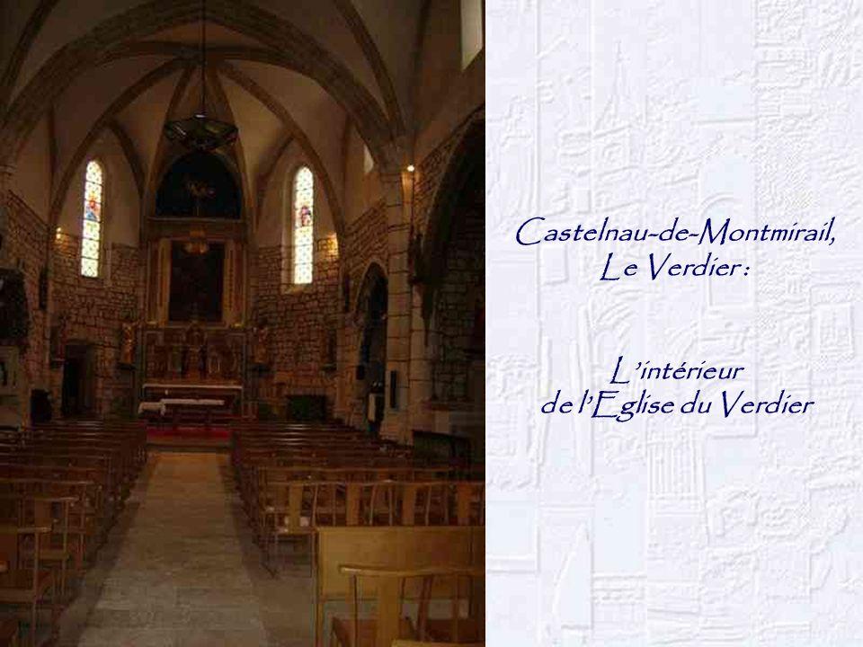 Castelnau-de-Montmirail, Le Verdier : Lintérieur de lEglise du Verdier