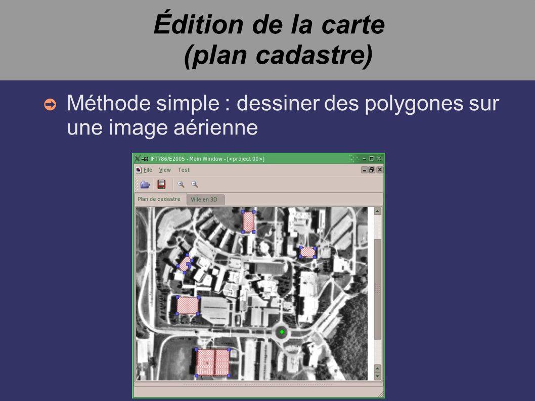 Édition de la carte (plan cadastre) Méthode simple : dessiner des polygones sur une image aérienne
