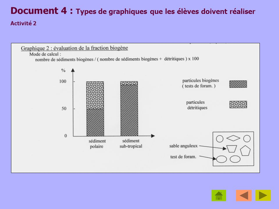 Document 4 : Types de graphiques que les élèves doivent réaliser Activité 2