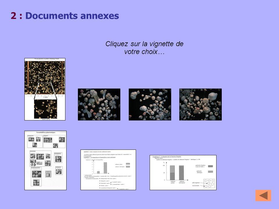 2 : Documents annexes Cliquez sur la vignette de votre choix…