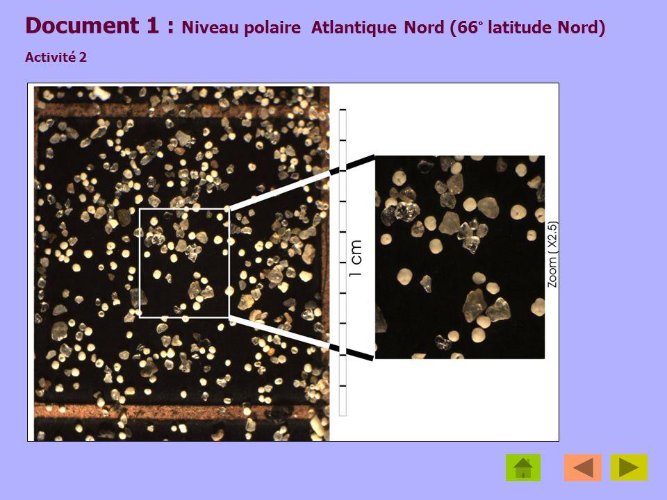 Document 1 : Niveau polaire Atlantique Nord (66° latitude Nord) Activité 2