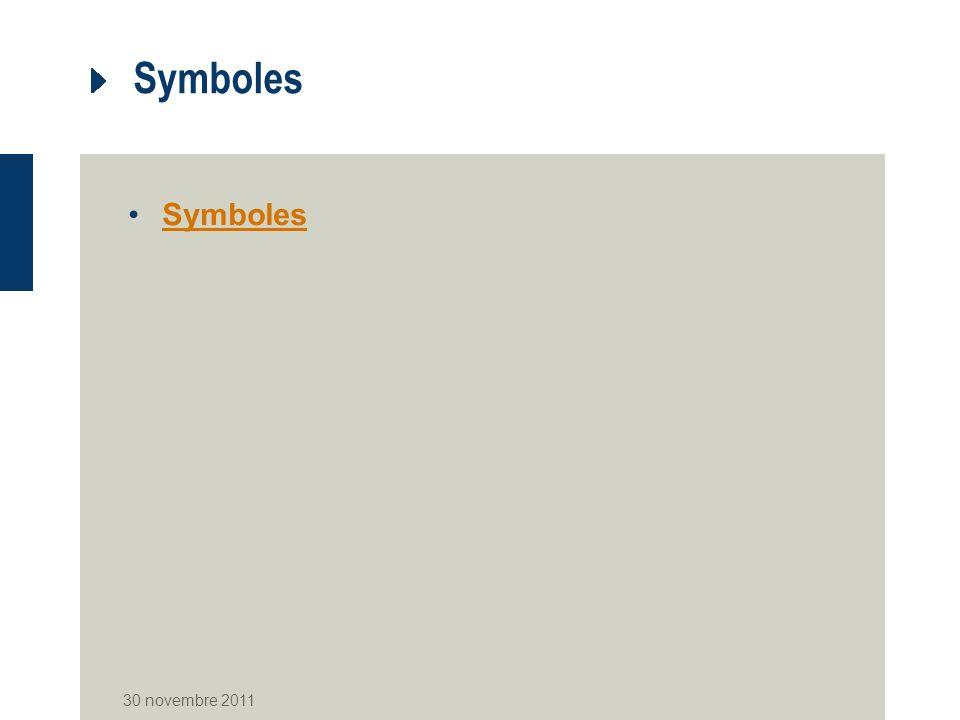 Symboles 30 novembre 2011