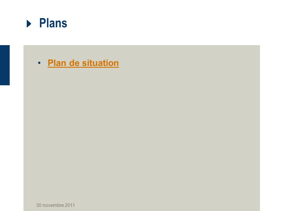 Plans Plan de situation 30 novembre 2011