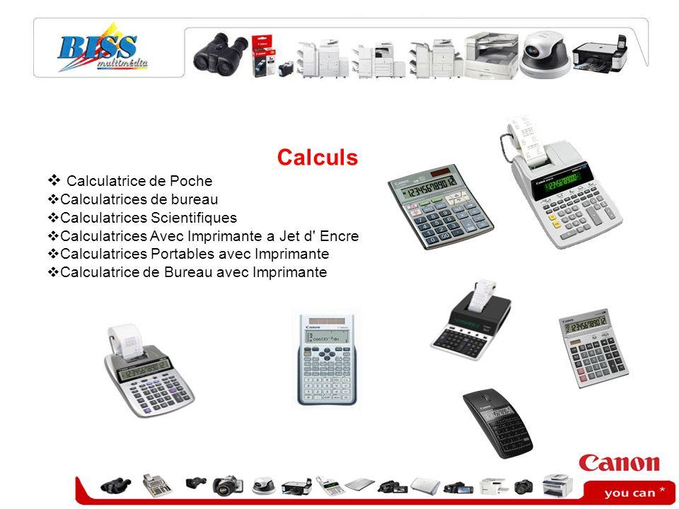 Calculs Calculatrice de Poche Calculatrices de bureau Calculatrices Scientifiques Calculatrices Avec Imprimante a Jet d' Encre Calculatrices Portables