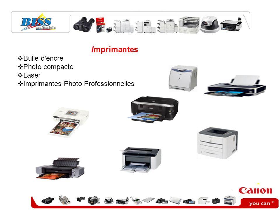 Imprimantes Bulle d'encre Photo compacte Laser Imprimantes Photo Professionnelles