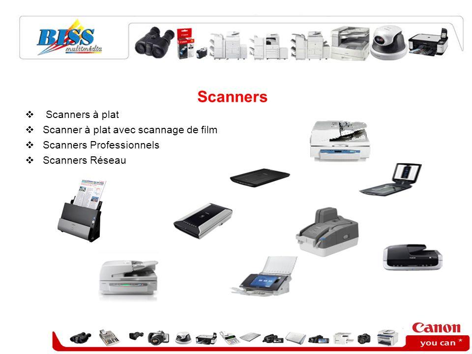 Scanners Scanners à plat Scanner à plat avec scannage de film Scanners Professionnels Scanners Réseau