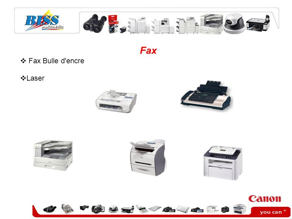Fax Fax Bulle d'encre Laser