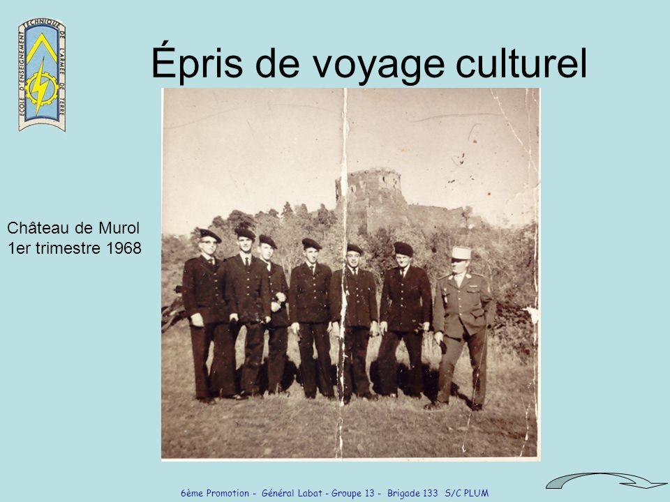 6ème Promotion - Général Labat - Groupe 13 - Brigade 133 S/C PLUM Épris de voyage culturel Château de Murol 1er trimestre 1968