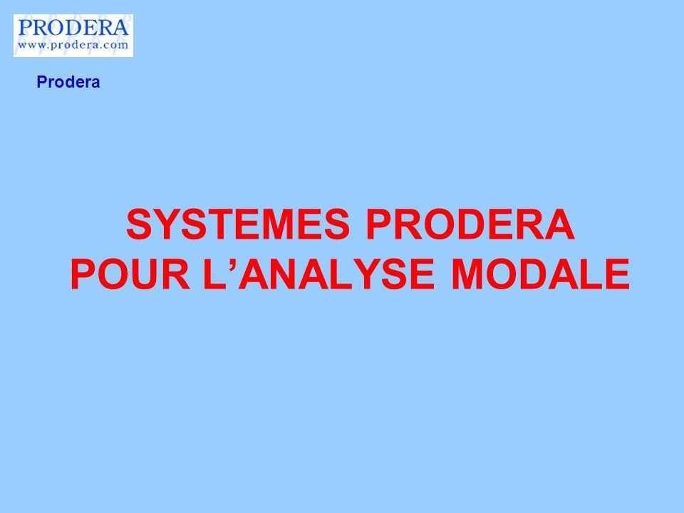 SYSTEMES PRODERA POUR LANALYSE MODALE Prodera