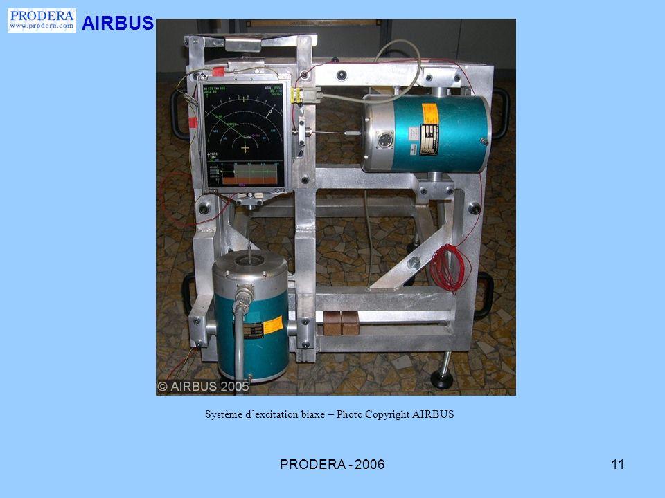 PRODERA - 200611 AIRBUS Système dexcitation biaxe – Photo Copyright AIRBUS