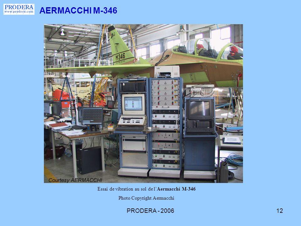 PRODERA - 200612 AERMACCHI M-346 Essai de vibration au sol de lAermacchi M-346 Photo Copyright Aermacchi