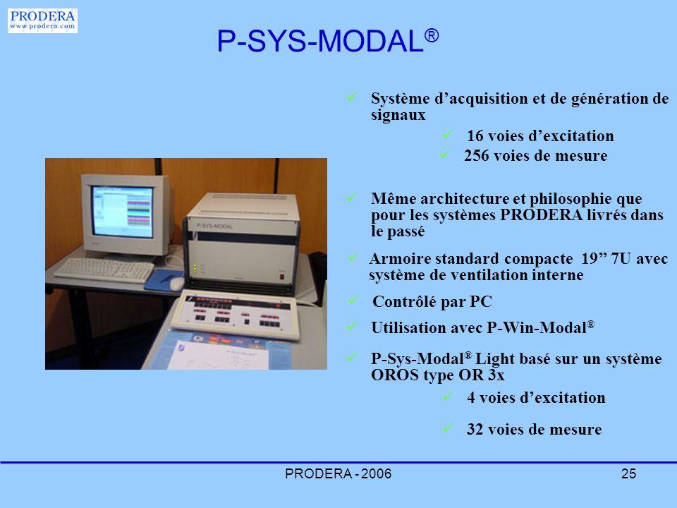 PRODERA - 200625 Système dacquisition et de génération de signaux Contrôlé par PC Armoire standard compacte 19 7U avec système de ventilation interne