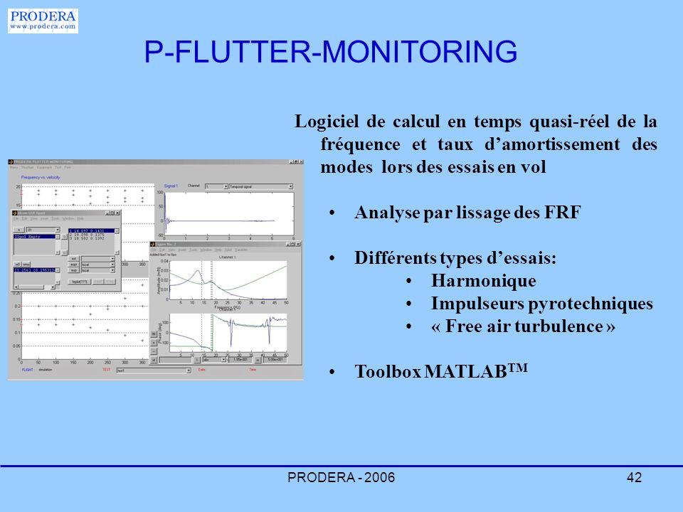 PRODERA - 200642 Logiciel de calcul en temps quasi-réel de la fréquence et taux damortissement des modes lors des essais en vol Analyse par lissage de