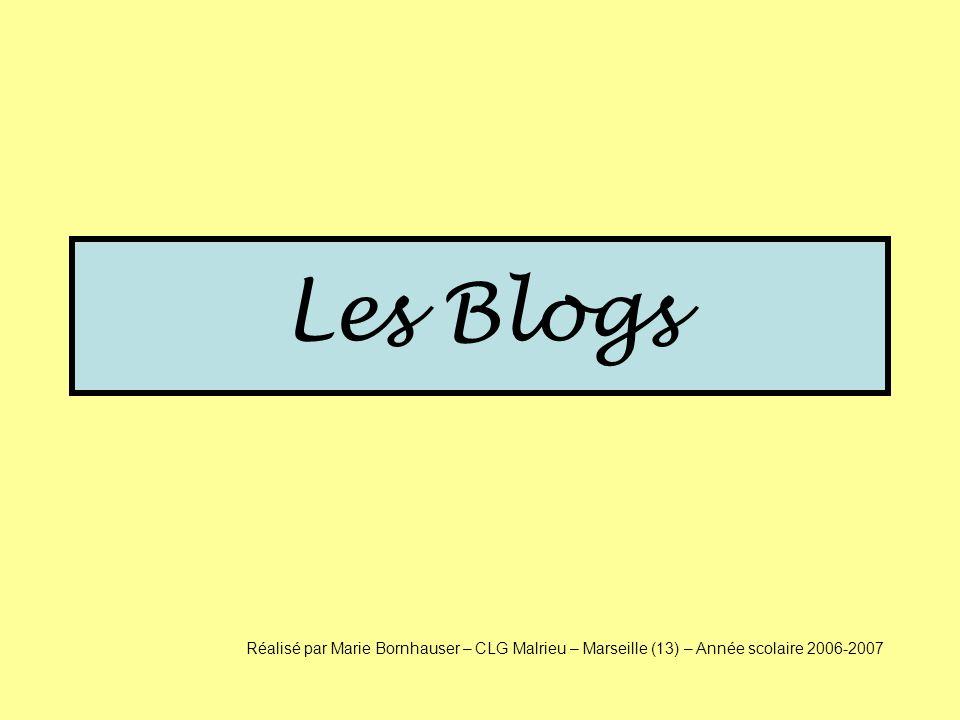 Doù vient le mot « Blog ».Quelle est lorigine du mot .