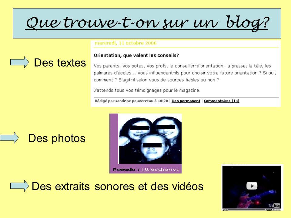 Conclusion Les blogs sont avant tout des lieux de création personnelle.
