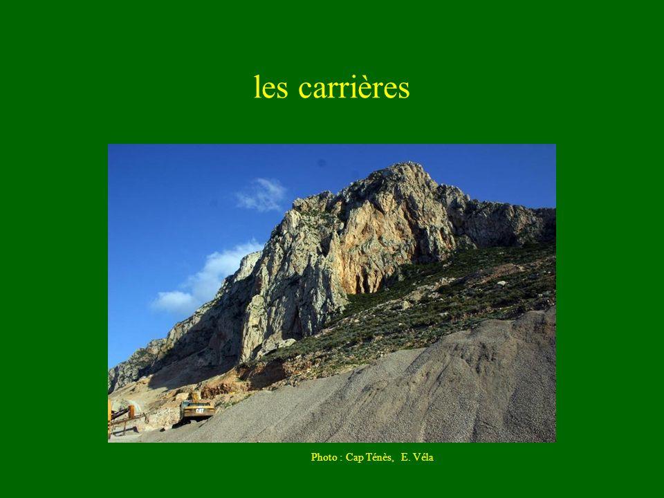 les carrières Photo : Cap Ténès, E. Véla