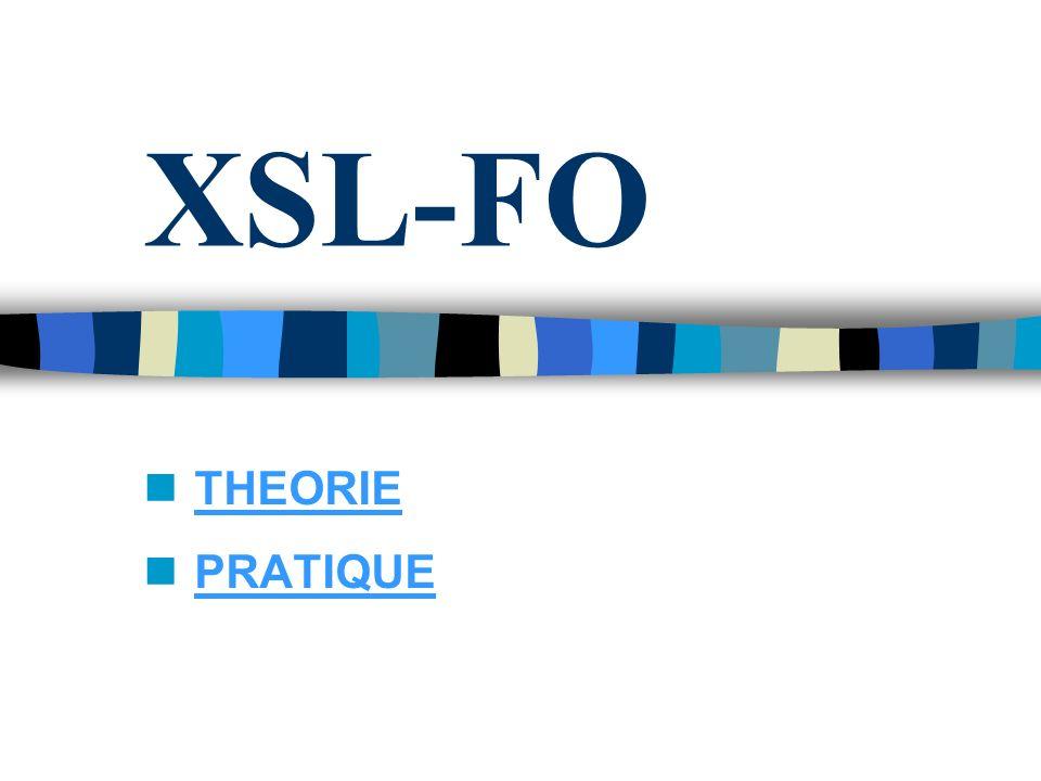XSL-FO THEORIE PRATIQUE