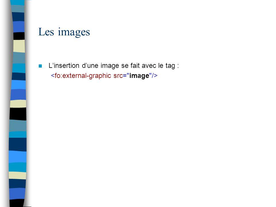 Les images Linsertion dune image se fait avec le tag :