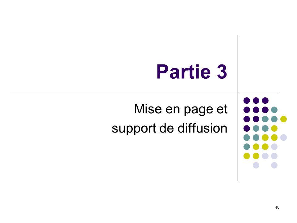 40 Partie 3 Mise en page et support de diffusion
