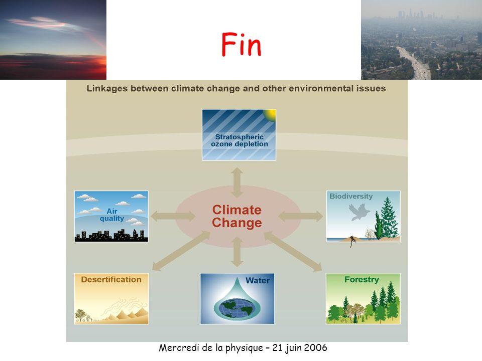 Mercredi de la physique – 21 juin 2006 Fin