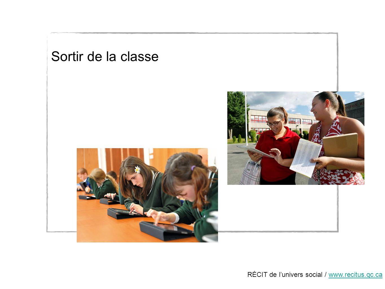 RÉCIT de lunivers social / www.recitus.qc.cawww.recitus.qc.ca Sortir de la classe