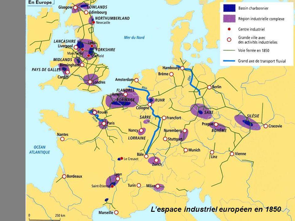 Lespace industriel européen en 1850