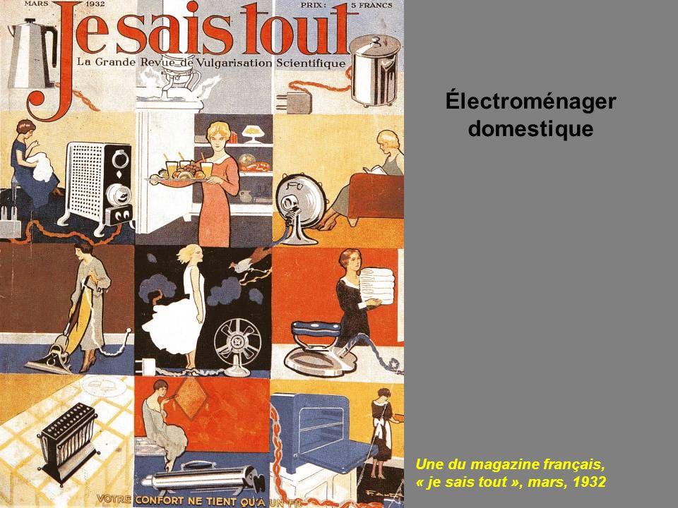 Une du magazine français, « je sais tout », mars, 1932 Électroménager domestique
