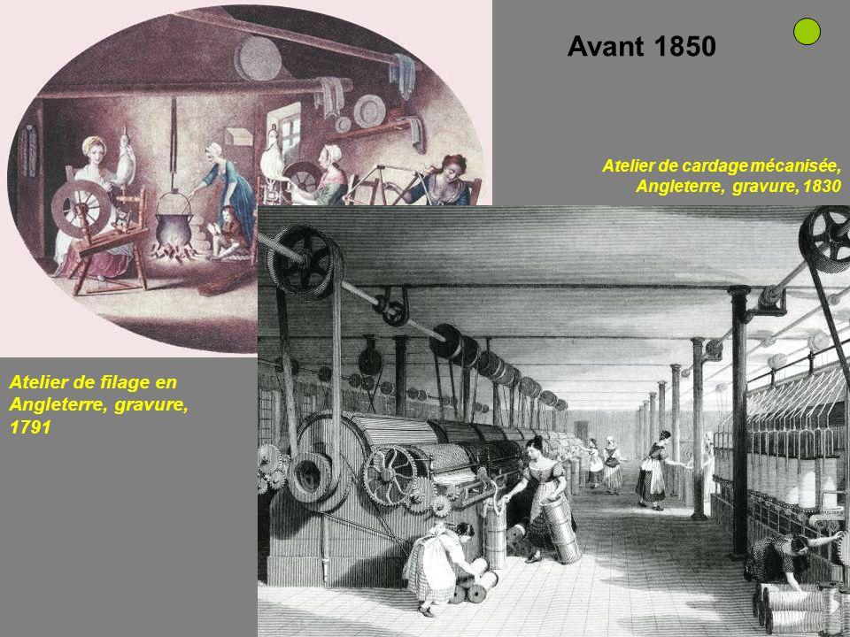 Schéma de fonctionnement de la machine de Watt Mule-jenny mise au point par Samuel Crampton en 1790 mécanisation machinisme