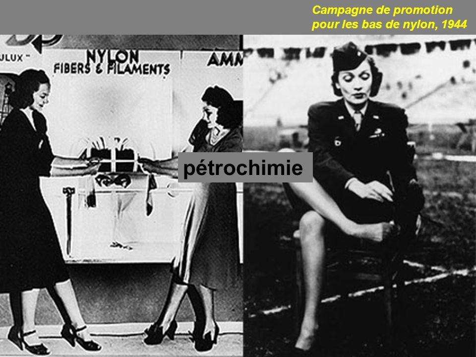 Campagne de promotion pour les bas de nylon, 1944 pétrochimie