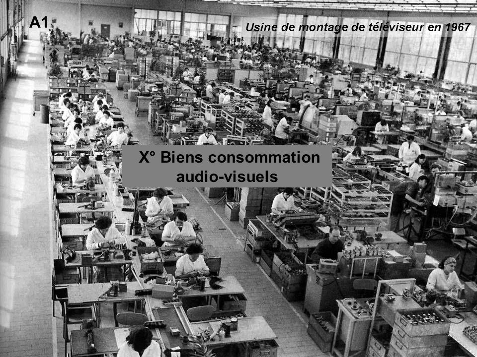 A1 X° Biens consommation audio-visuels Usine de montage de téléviseur en 1967
