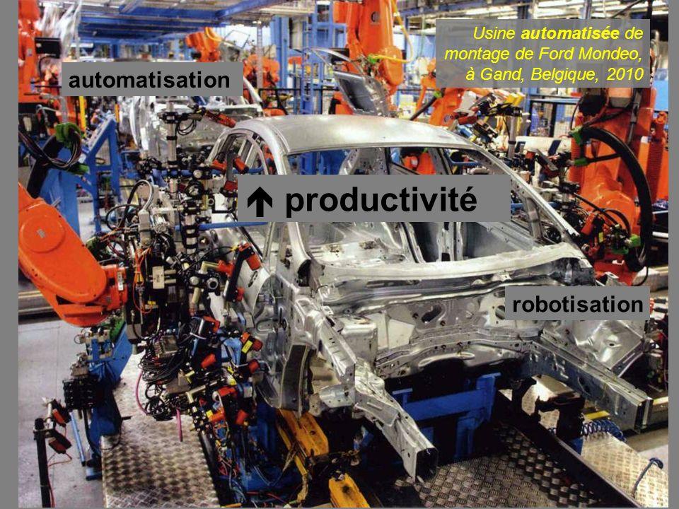 automatisation robotisation productivité Usine automatisée de montage de Ford Mondeo, à Gand, Belgique, 2010