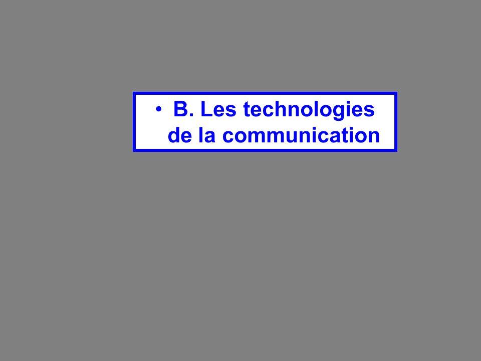 B. Les technologies de la communication