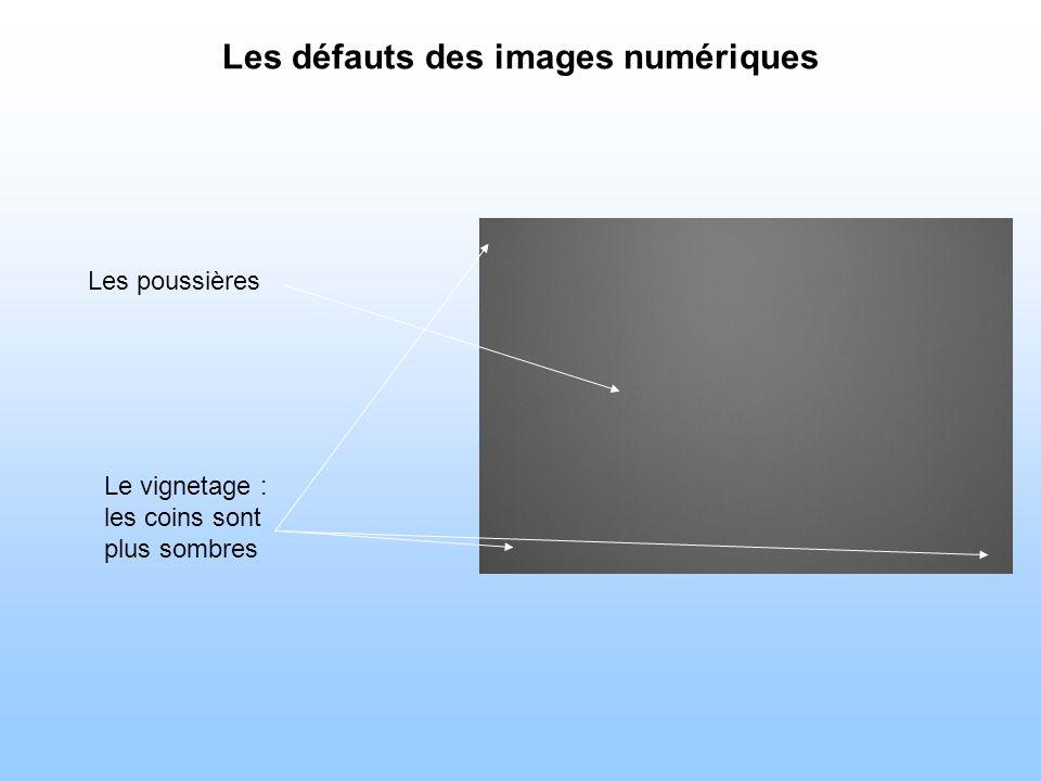 Les défauts des images numériques Les poussières Le vignetage : les coins sont plus sombres