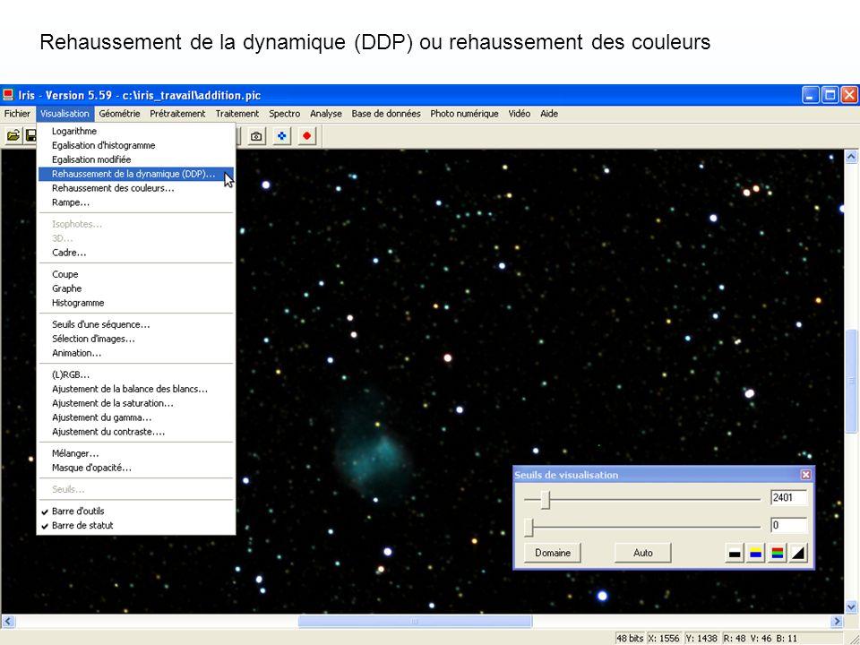 Rehaussement de la dynamique (DDP) ou rehaussement des couleurs