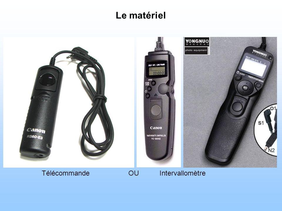 Le matériel TélécommandeIntervallomètreOU