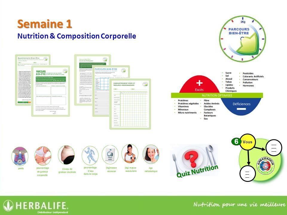 Semaine 1 Nutrition & Composition Corporelle Quiz Nutrition ____ ___ ___ ___ Vous 6