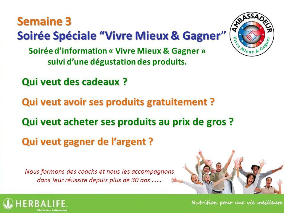 Soirée dinformation « Vivre Mieux & Gagner » suivi dune dégustation des produits.