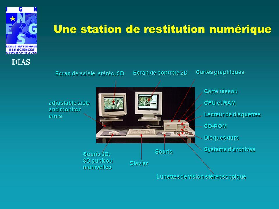 Ecran de saisie stéréo. 3D Ecran de contrôle 2D Souris Clavier Lunettes de vision stereoscopique Souris 3D, 3D puck ou manivelles adjustable table and
