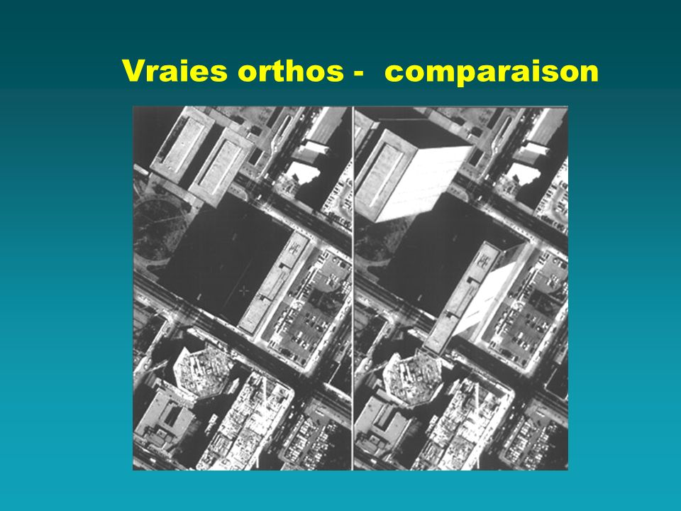 Vraies orthos - comparaison