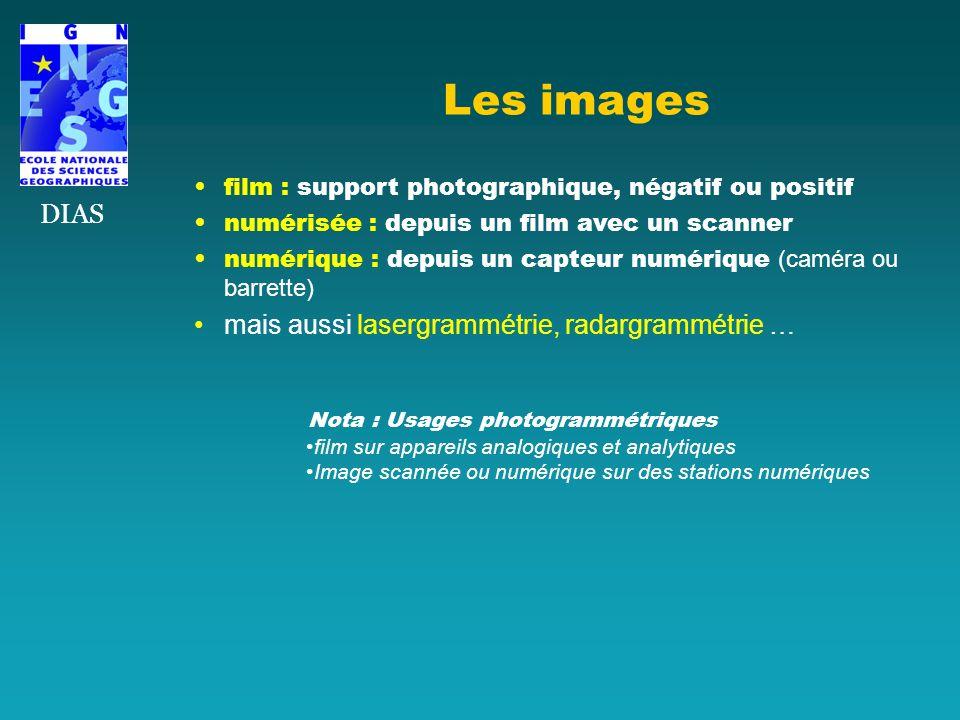 Les images film : support photographique, négatif ou positif numérisée : depuis un film avec un scanner numérique : depuis un capteur numérique (camér