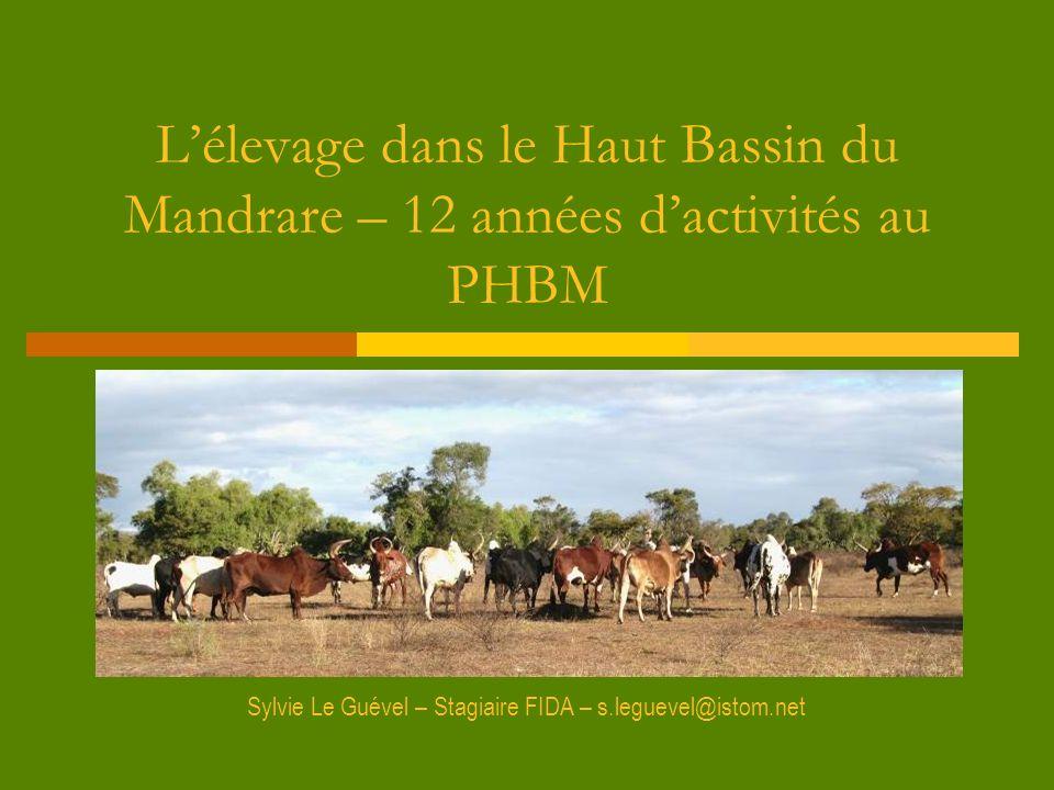 Lélevage dans le Haut Bassin du Mandrare – 12 années dactivités au PHBM Sylvie Le Guével – Stagiaire FIDA – s.leguevel@istom.net