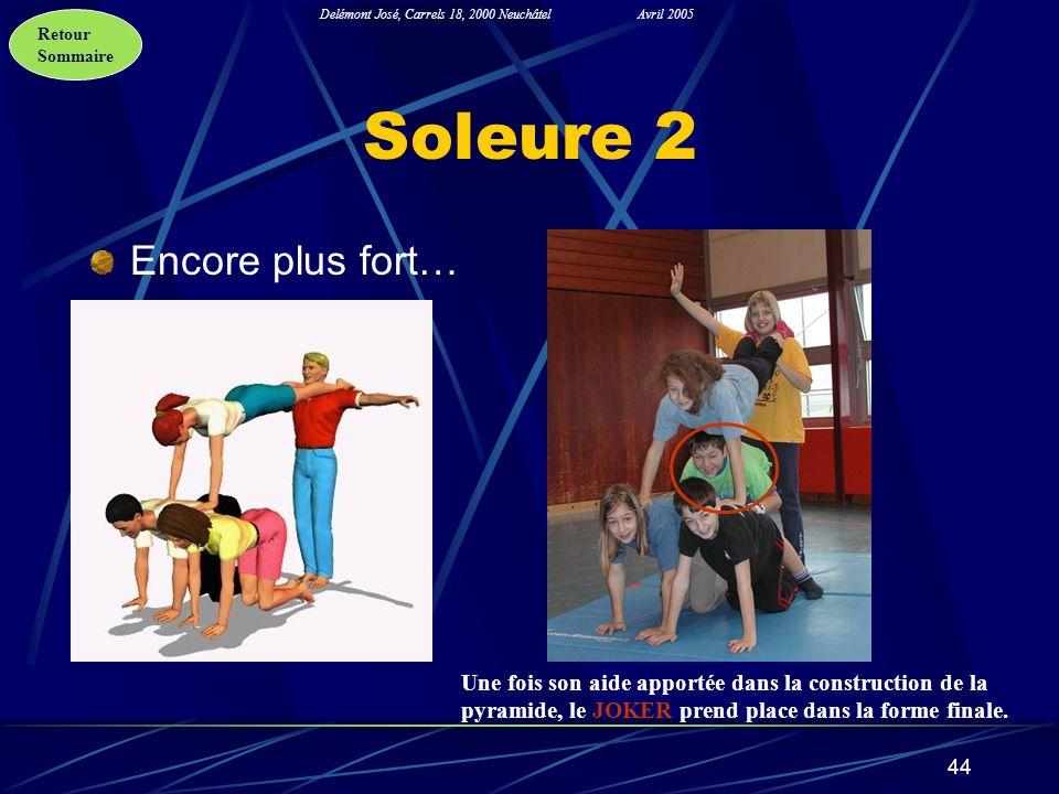 Retour Sommaire Delémont José, Carrels 18, 2000 NeuchâtelAvril 2005 44 Soleure 2 Encore plus fort… Une fois son aide apportée dans la construction de