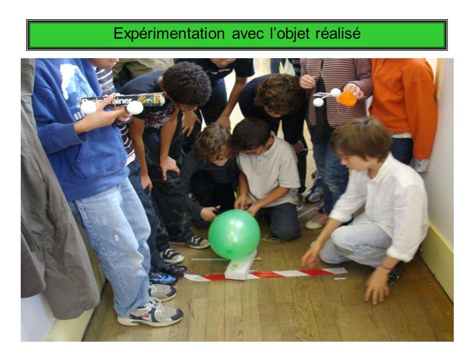 Expérimentation avec lobjet réalisé